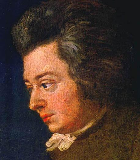 Mozart, unfinished portrait by Lange