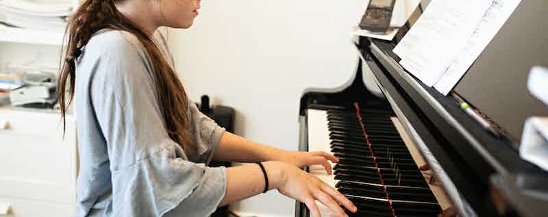 Piano practice time
